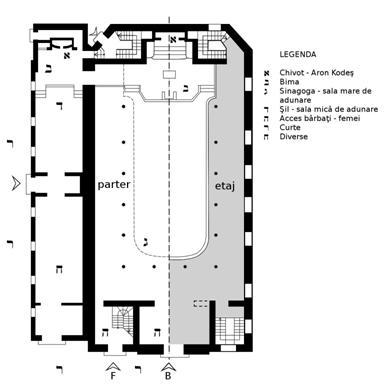 Plan Sinagoga Mare din București