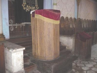 Pupitrul de predică – Sinagoga din Carei